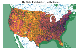 County ages, with Rivers